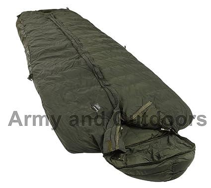 Saco de dormir original británico, patrón 58, plumón, tamaño largo