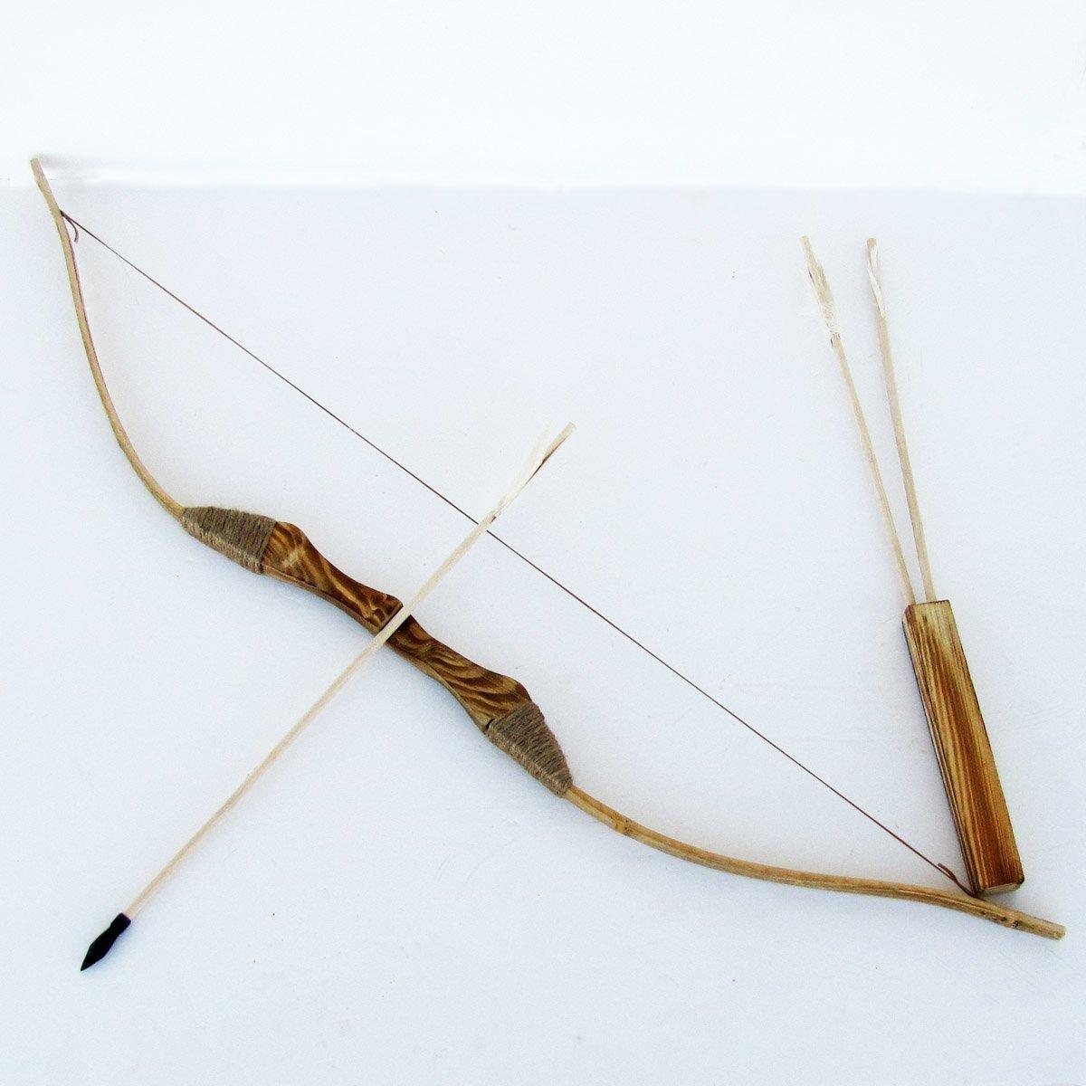 Jugend Holzbogen und Arrod mit Qiver und 3 Pfeilen Wood Magic