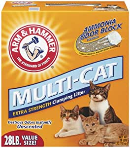 Arm & Hammer Multi-Cat Strength Clumping Litter, Unscented, 28-Pounds (Pack of 1)