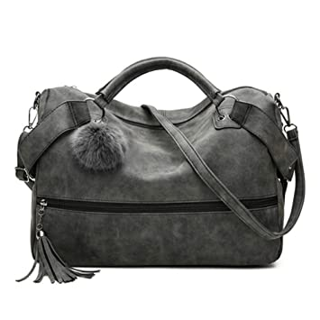 c84aa16c1f04 Amazon.com : GSYDXKB Women Messenger Bag Leather Bags Frosted Female ...