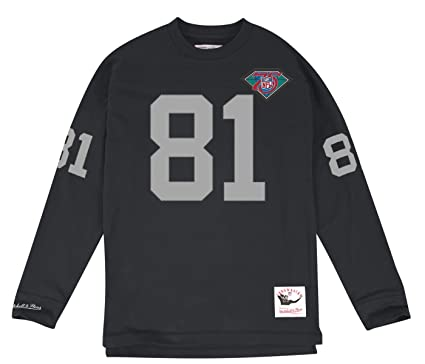 Mitchell   Ness Tim Brown Los Angeles Raiders NFL Black 1994 Jersey  Inspired Longsleeve Knit Shirt a5b80a965