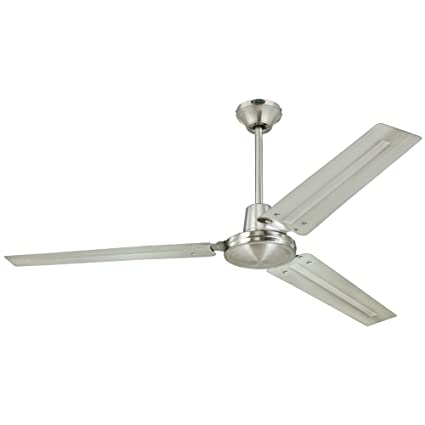 Amazon westinghouse 7861400 industrial 56 inch three blade westinghouse 7861400 industrial 56 inch three blade indoor ceiling fan brushed nickel with mozeypictures Image collections