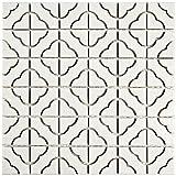 SomerTile FXLPALW Castle Porcelain Floor and Wall Tile, 11.75'' x 11.75'', White
