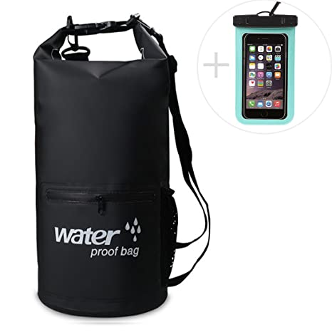 a28b434bb37e Mooedcoe Large Waterproof Dry Bag Roll Top Dry Compression Sack Keeps Gear  Dry for Kayaking Beach Boating Hiking Camping Fishing with Waterproof Phone  Case