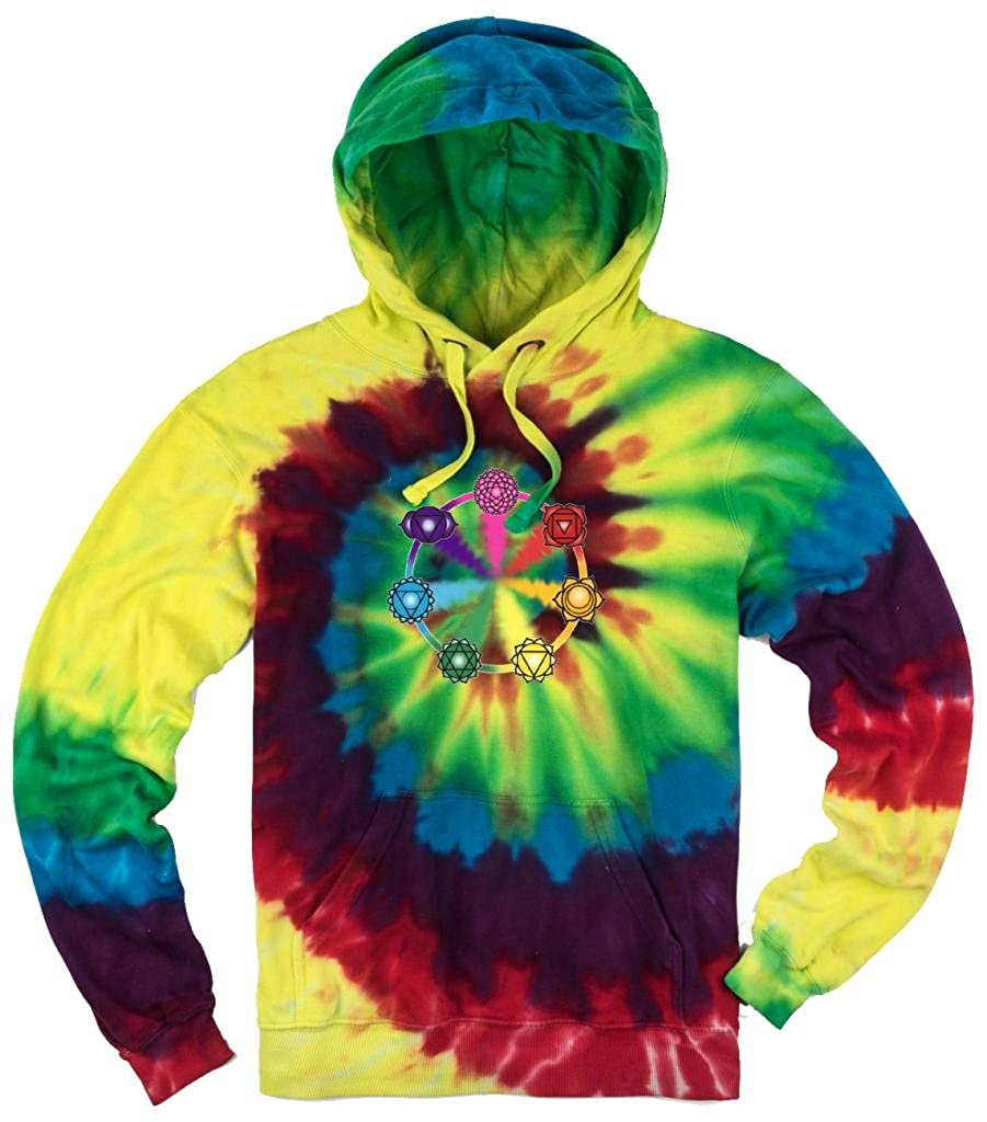 Yoga Clothing For You Mens Tie Dye Chakra Circle Hoodie AG-MICHAEL-CHAKCIR