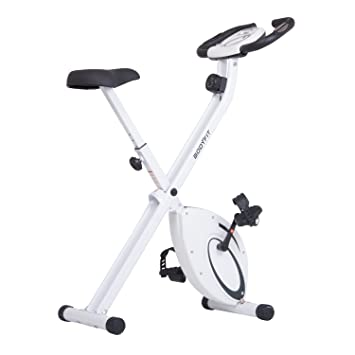 Folding Upright Exercise Stationary Bike With Heart