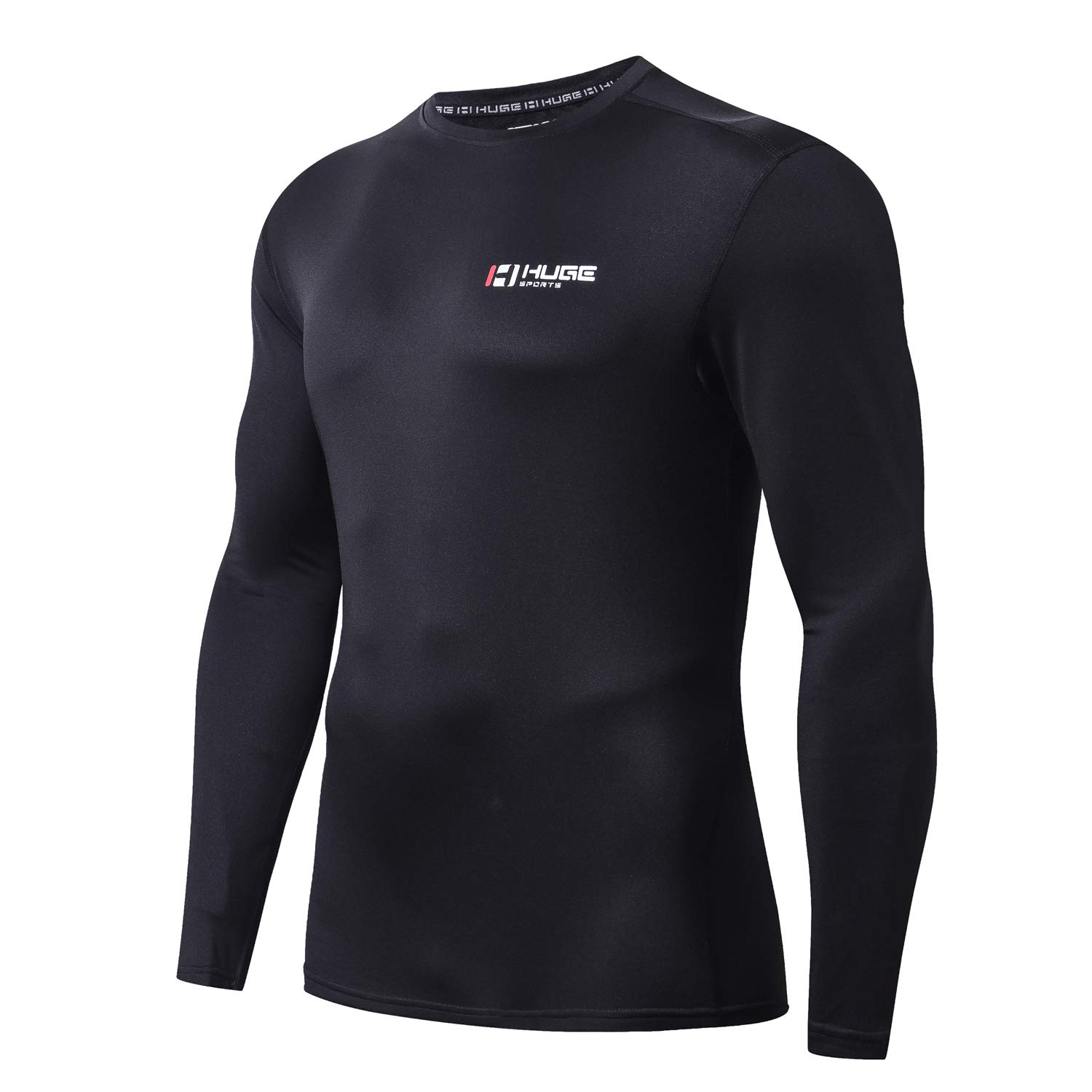 HUGE SPORTS Mens Fleece ColdGear Thermal Daily Wear Workout Fitted Shirt Long Sleeves LBX US-DMRF-US1-Lo