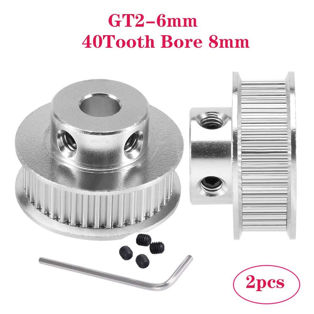 PoPprint GT2 - Correa dentada de aluminio con 40 dientes (orificio ...