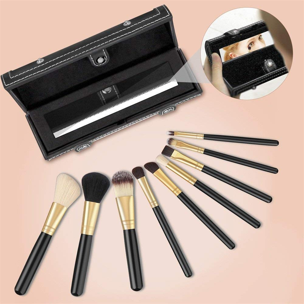 56f6a8812 Brochas de Maquillaje Profesional, Leeron Set de 9 Pinceles de Maquillaje,  Juegos de Maquillaje