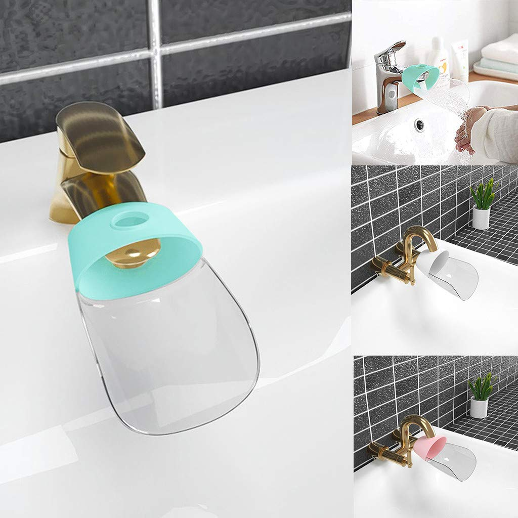 Faucet Extender, Cleanrance!!! Sink Handle Extender, Kitchen Bathroom Child Washing Easily for Babies, Toddlers, Kids (Green)