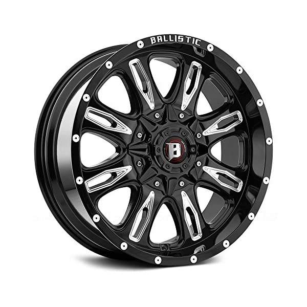 17X9-BALLISTIC-953-SCYTHE-Bolt-Pattern-5x1143mm-and-5x127mm-or-5x45in-and-5x5in-Offset-12mm-Finish-Gloss-Black-Milled-CB-837mm-MPN-95379006012GBX