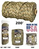 mixed made - TOUGH-GRID 750lb Mixed Camo Paracord / Parachute Cord - Genuine Mil Spec Type IV 750lb Paracord Used by the US Military (MIl-C-5040-H) - 100% Nylon - Made In The USA. 50Ft. - Mixed Camo