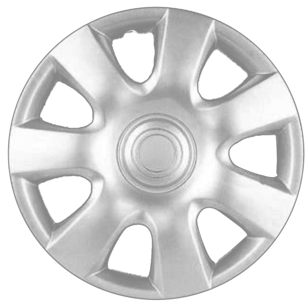 OxGord Hubcaps for 15 inch Standard Steel Wheels (Pack of 4) Wheel Covers - Snap On, Silver … by OxGord (Image #2)