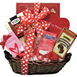 GreatArrivals Gift Baskets Sweet Devotion Small Valentine's Day Chocolate and Sweets Gift Basket, 5 Pound