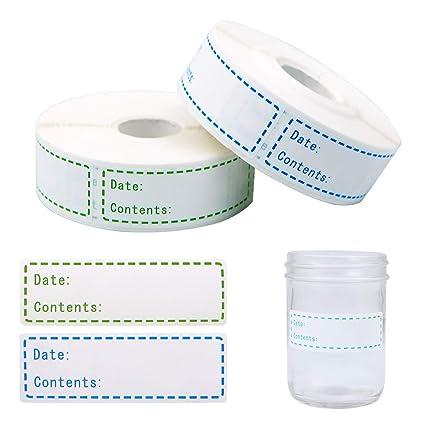 1000 Piezas de Etiquetas Extraíbles para Congelador, 1 x 3 ...