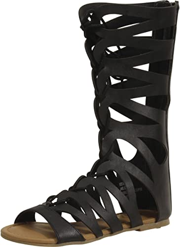 Mia Kids Little//Big Girl/'s Jane Black Gladiator Sandals Shoes