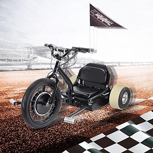 SAY YEAH Electric Drift Go Car 500W 48V Trike Single Rider Funny Toys E scooter 3 Wheel Crazy Car Flashrider 360 for Boys and Girls -
