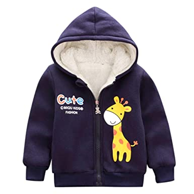 91402f75f Amazon.com  Infant Toddler Baby Girls Boys Fall Wintert Hooded ...