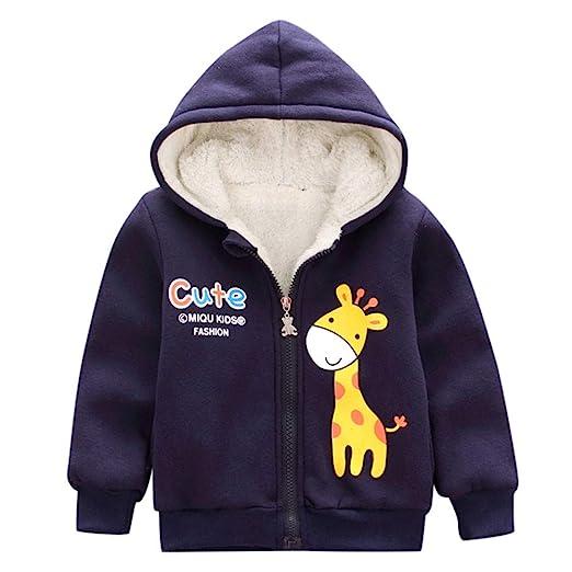 63914567c959 Amazon.com  LIKESIDE Kid Baby Winter Cartoon Giraffe Coat Hooded ...