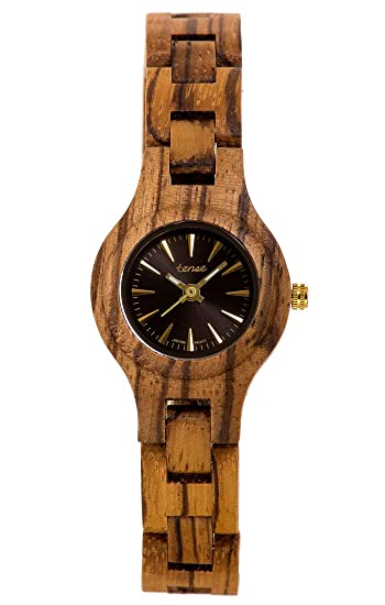TENSE Wood Watch Womens Pacific Mujer Madera zebrano L7509Z: Amazon.es: Relojes