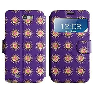 LEOCASE flor linda Funda Carcasa Cuero Tapa Case Para Samsung Galaxy Note 2 N7100 No.1005068