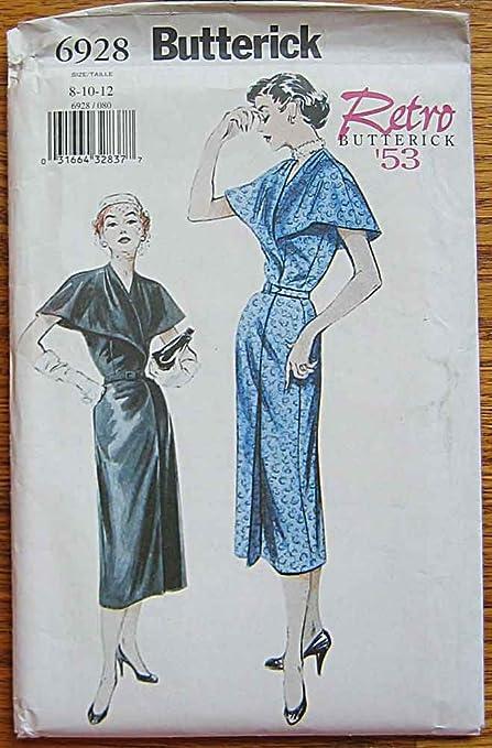 Butterick 6928 Sewing Pattern ~ Retro \'53 Misses\' Aline Mock Wrap ...