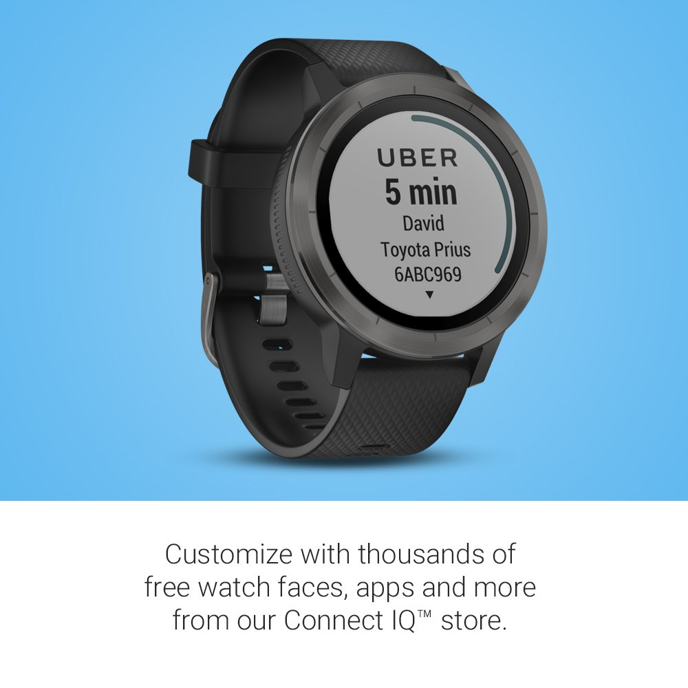 Garmin V�voactive 3 GPS Smartwatch - Black & Gunmetal