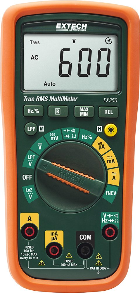 Extech EX350 True RMS Professional MultiMeter with NCV by Extech