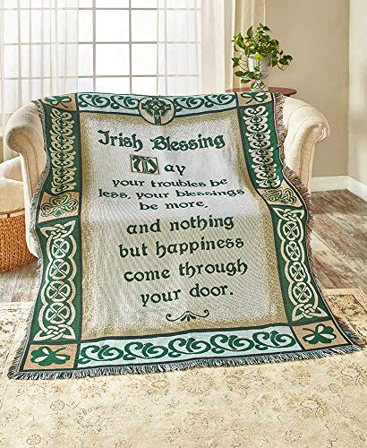 The Lakeside Collection Irish Blessing Tapestry Throw -