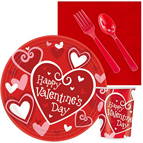 BirthdayExpress Valentines Day Party Supplies - Classroom Party Pack 24