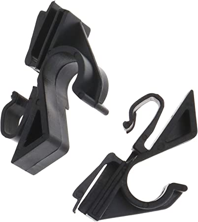 D2D coppia di clip posteriore cappelliera gancio sedile poggiatesta ganci Hanger organizer per auto 71719952/71719953/nero