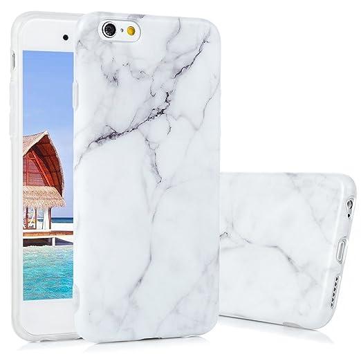 4 opinioni per Marmo Cover iPhone 6s, KASOS Morbido Custodia iPhone 6 Silicone Gel Ultra