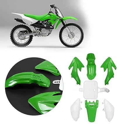 Innersetting 7pcs Motorcycle Plastic Fairing for Honda CRF 50 Pit Dirt Bike  Green+White