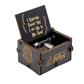Surenhap Caja de música de Madera Premier de Harry Potter Caja Personalizada de Magic Personalizada Regalos