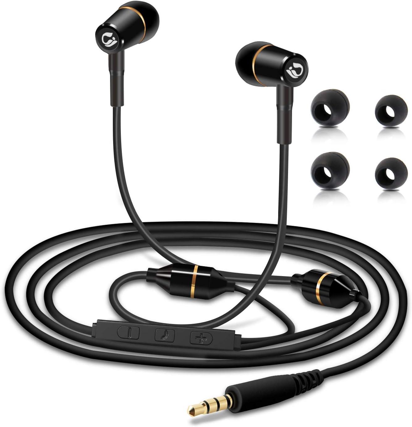 Bianco Protezione EMF Cuffie In-Ear Stereo con Vivavoce Headset con Microfono Tuisy Aggiornato Auricolari Anti-Radiazioni In linea /& Telecomando Brevetto Air Tube