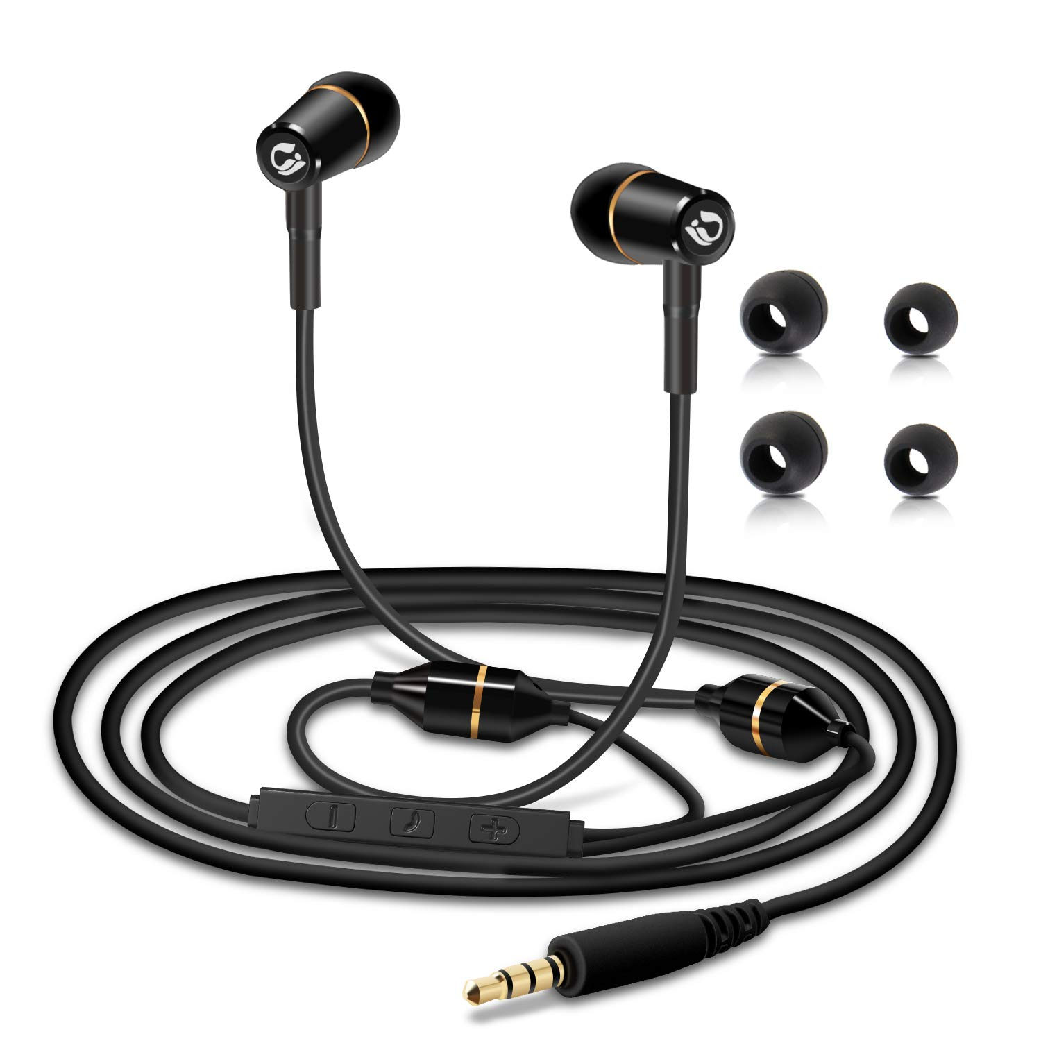 83fef4c993b Amazon.com: Tuisy Air Tube Headset - Upgraded Anti-Radiation Headphones,  EMF Protection Metal Binaural Earbuds Earphone with Microphone and Volume  Control, ...
