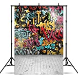SJOLOON 5x7ft Hip Hop Photography Backdrops for Photographers Teenager Fashion Wall Naughty Style Graffiti Photo Backdrop for Children 10585