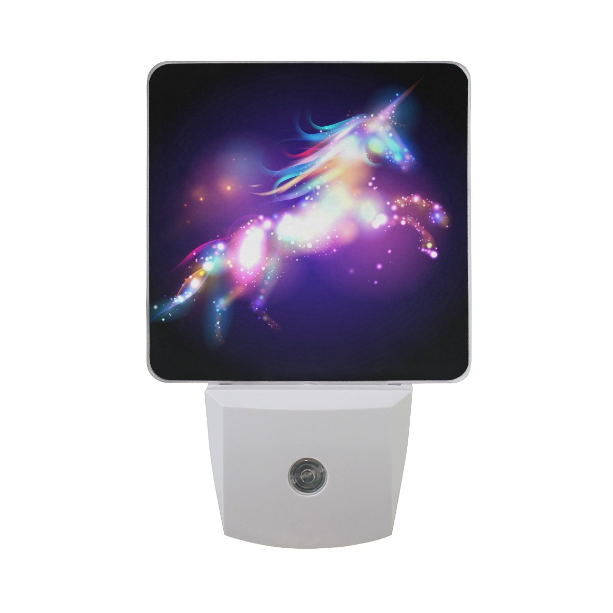 JOYPRINT Led Night Light Animal Fantasy Unicorn, Auto Senor Dusk to Dawn Night Light Plug in for Kids Baby Girls Boys Adults Room