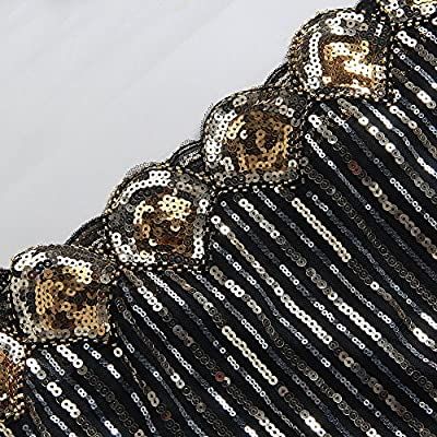 Todayme Women's Vintage 1920s Inspired Shine Beaded Sequin Art Deco Flapper Dress