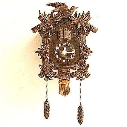 Bing Rural Vendimia Personalidad Creatividad Moda Dorado Cuco Reloj cucú Reloj Birdie Reloj de Pared decoración