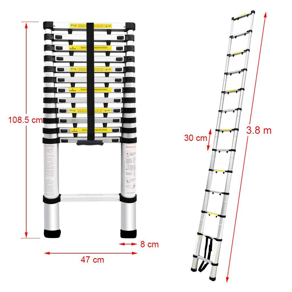 super alu leiter 8 meter np62 kyushucon. Black Bedroom Furniture Sets. Home Design Ideas