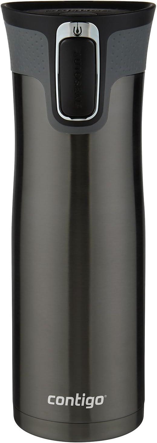 Contigo AUTOSEAL West Loop Vaccuum-Insulated Stainless Steel Travel Mug, 20 oz, Black