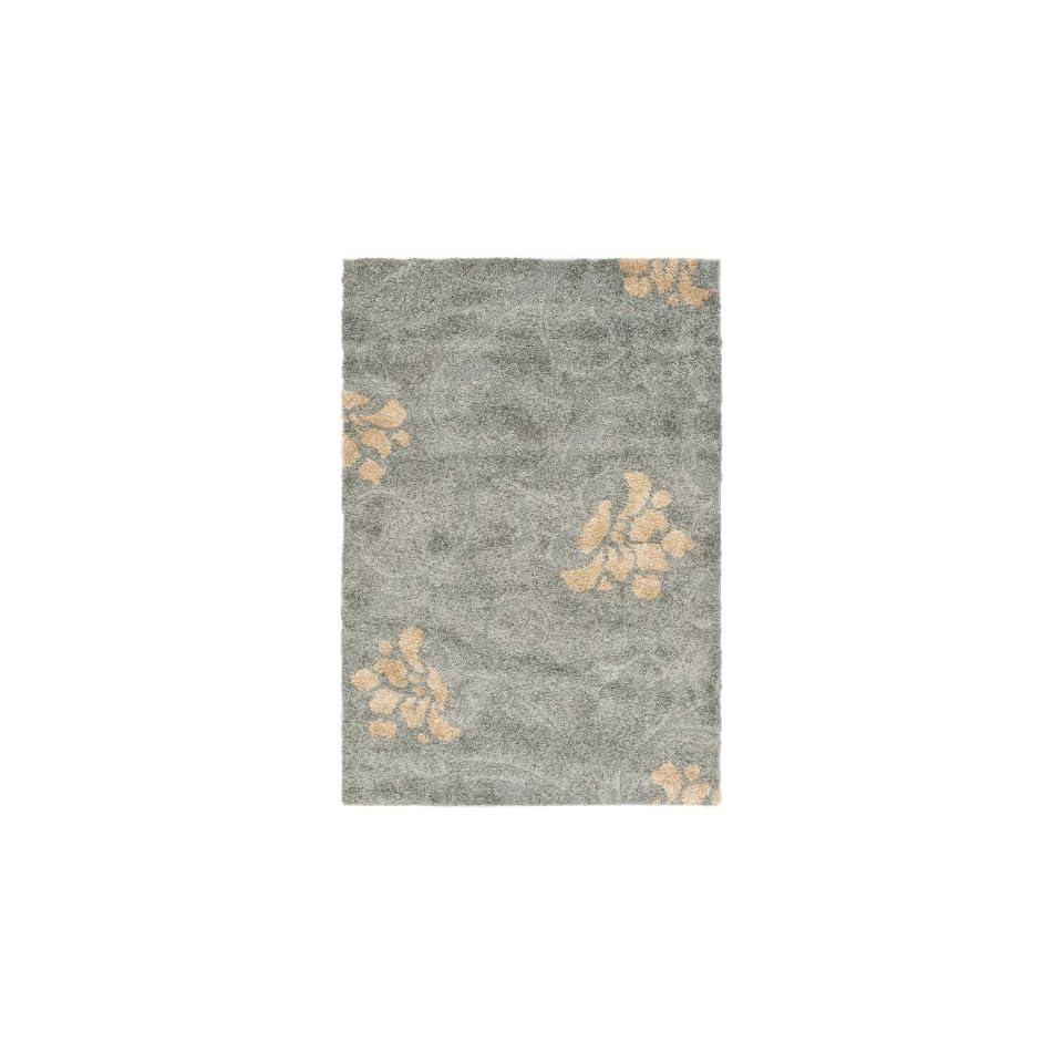 Safavieh Florida Shag Collection SG464 8013 Grey and Beige Area Rug (8 x 10)