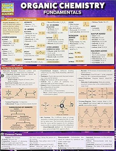 organic chemistry fundamentals quick study academic inc rh amazon com ACS Organic Chemistry Review Organic Chemistry Functional Groups