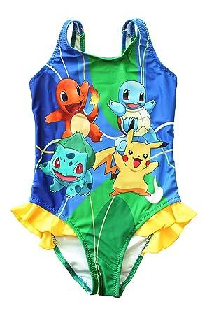 879fd4f03a845 FineApparel UK Pokemon Go Girls Swimwear Swimming Costume Swimsuit Pikachu  Squirtle Charmander Bulbasaur (3-4 Years): Amazon.co.uk: Clothing