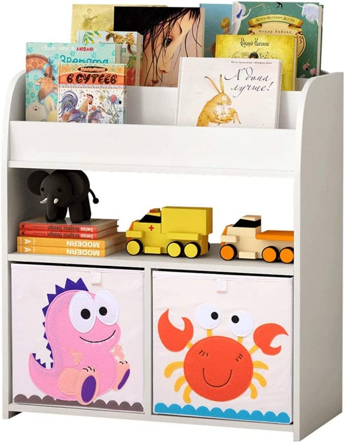 本の陳列台 キッズ本棚玩具主催内閣ブックシェルフディスプレイ収納棚子供ルーム家具ホワイト 大量の文庫本を保管できます (色 : 白, サイズ : 80x72x34cm)