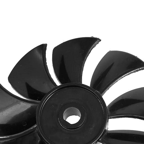 eDealMax 1100W / 1500W 135mm Dia 9 Vane compresor de aire de reemplazo 2pcs abanico negro - - Amazon.com