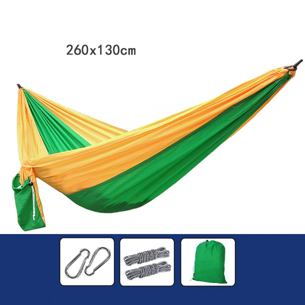 2 DNSJB Hammock, Double Mosquito Net Parachute Cloth, Outdoor Camping Tourism, Easy to Carry (color    9)