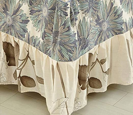 QUNCUNG Bedding Ruffled Bedskirt,Cubre Canapé Colcha Reina Rey ...