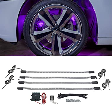 1 Pcs Neon Tire Wheel Well Rim LED Light Lamp for Car Bike Bicycle Motorcycle US